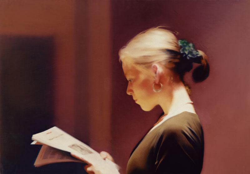 Gerhard Richter : Panorama : Gerhard Richter, Lesende. 1994, Huile sur toile, 72 x 102 cm.  San Francisco Museum of Modern Art.