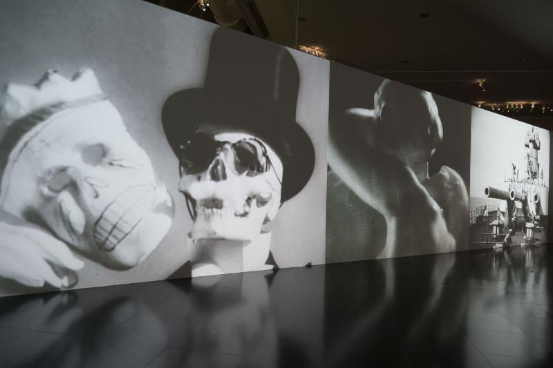 L'Œil extatique – Sergueï Eisenstein, cinéaste à la croisée des arts : Vue de l'exposition L'Œil extatique – Sergueï Eisenstein, cinéaste à la croisée des arts, Centre Pompidou-Metz, 2019. © Centre Pompidou-Metz / Photo Jacqueline Trichard / 2019