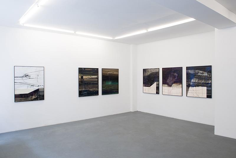 Stéphane Guénier. Dessins récents : vue de l'exposition Stéphane Guénier. Dessins récents, 2016© Galerie Djeziri-Bonn