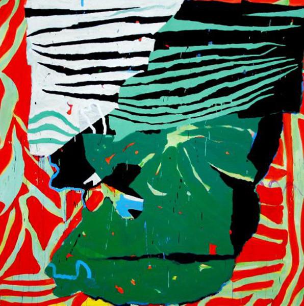 Jean Gaudaire-Thor : Awash. 2007.Acrylique sur toile. 180 x 180 cm ( Série Harar )