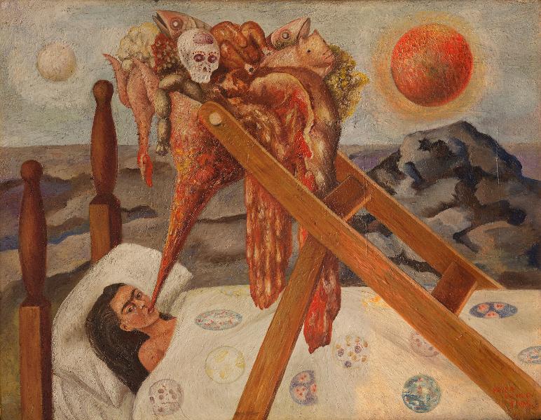 Frida Kahlo et Diego Rivera – L'Art en fusion : Sin Esperanza (Désespérée), 1945, huile sur toile, 28 x 36 cm, Mexico, Museo Dolores Olmedo, Xochimilco © ADAGP, Paris 2013