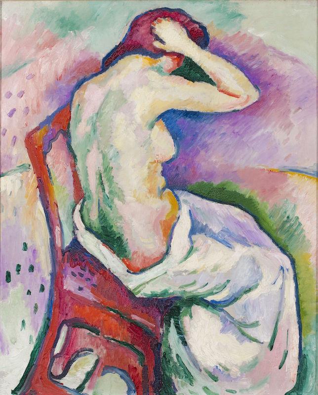 Inspiration Matisse : Braque, Nu assis, 1906.