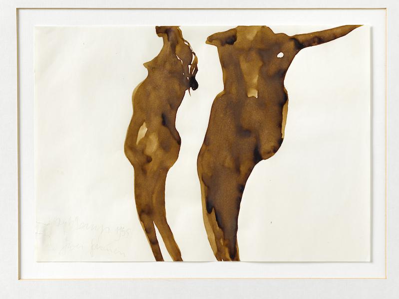 Préhistoire, une énigme moderne : Joseph Beuys Zwei Frauen, 1955 Crayon, aquarelle, gouache sur papier, 21 x 29,5 cm Courtesy of Galerie Thaddaeus Ropac - London Paris Salzburg Photo : Ulrich Ghezzi © Adagp, Paris 2019