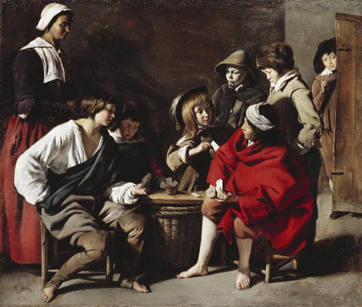 Le mystère des frères Le Nain : Louis Le Nain. Les Joueurs de cartes.1635-1638, Huile sur toile