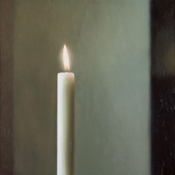 Gerhard Richter : Panorama : Gerhard Richter, Kerze. 1982, huile sur toile, 100 x 100 cm.  Museul Frieder burda, Baden-Baden