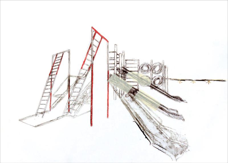 Catherine Melin : Sans-titre7, 2014, technique mixte sur papier, 42,2 x 59 cm