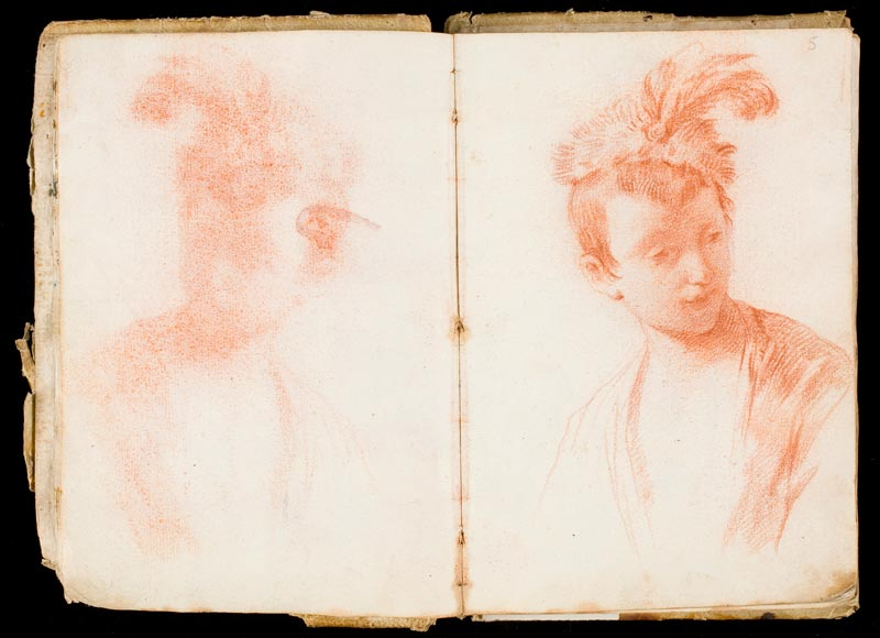 Goya et plus : Italian Sketchbook Mariano Salvador Maella Pencil and red ink, 180 x 240 mm [open] 1758 – 1765 and 1765 - 1790 Acquired by the Museo Nacional del Prado in 2005
