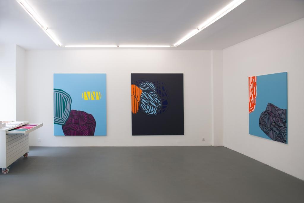 Soo Kyoung Lee / Guillaume Moschini : Vue de l'exposition de Soo Kyoung Lee, galerie Djeziri-Bonn, Paris, 2015 © R. Kriegel