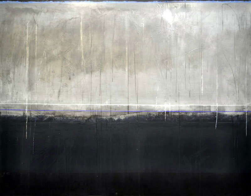 Aliska Lahusen – Laques et Plombs : Transit Umbra II-2011,153x200cm.Huile sur plomb