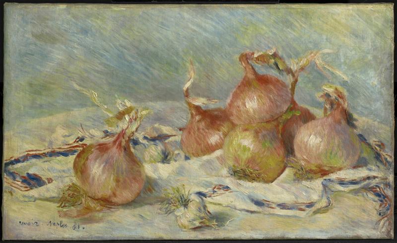 La Passion Renoir. : The Onions Oil on canvas, 1881, © Sterling and Francine Clark Art Institute, © 2010 Museo Nacional del Prado