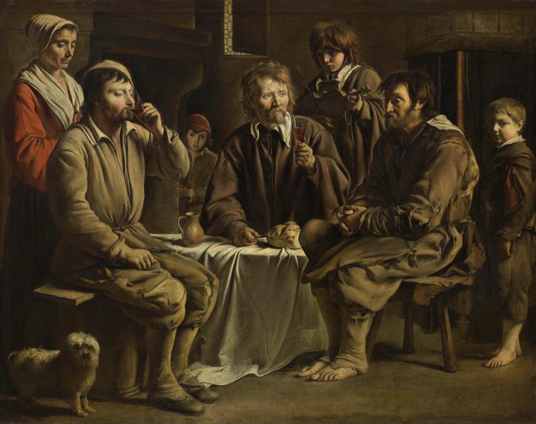 Le mystère des frères Le Nain : Louis Le Nain Repas de paysans. 1642, Huile sur toile