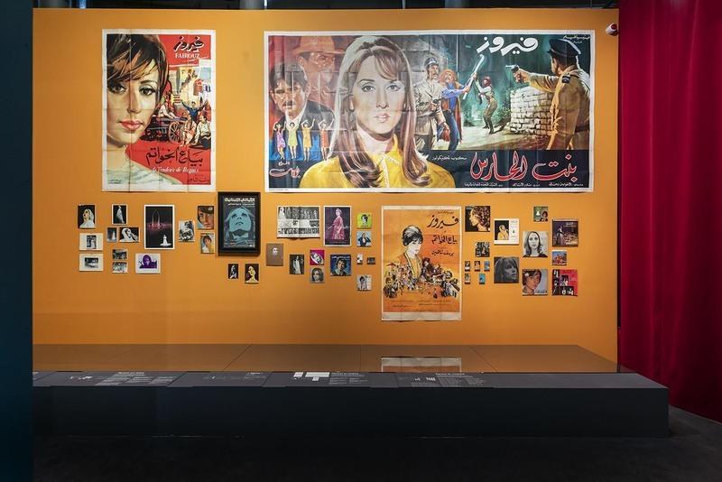 Divas, d'Oum Kalthoum à Dalida :  Vue de l'exposition. Divas, D'Oum Kalthoum à Dalida, du 12 mai 2021 au 25 juillet 2021. Institut du monde arabe, Paris. © A.Sidoli et T.Rambaud.