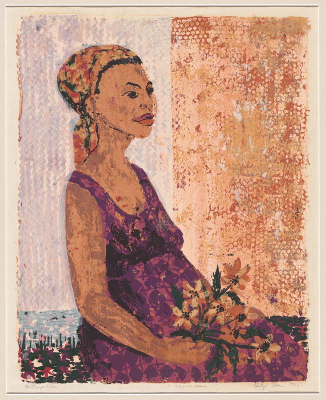 Betye Saar. The Legends of Black Girl's Window : Betye Saar. Anticipation. 1961. Screenprint, image: 18 1/8 × 14 7/16? (46.1 × 36.7 cm); sheet: 21 11/16 × 16 15/16? (55.1 × 43.1 cm). The Museum of Modern Art, New York. The Candace King Weir Endowment for Women Artists. © 2019 Betye Saar, courtesy the ar