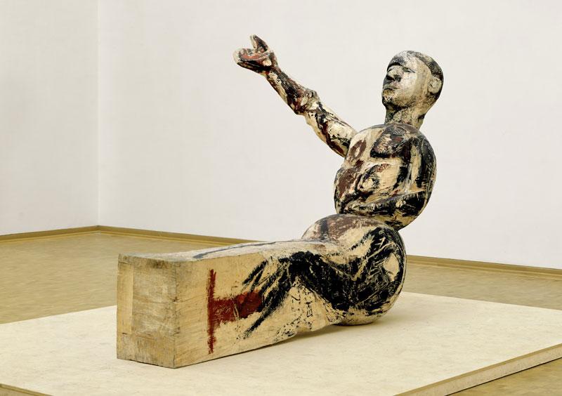 Baselitz sculpteur : Georg Baselitz, Modell für eine Skulptur, 1979 – 1980, Museum Ludwig, Cologne, Photo : Frank Oleski © Georg Baselitz