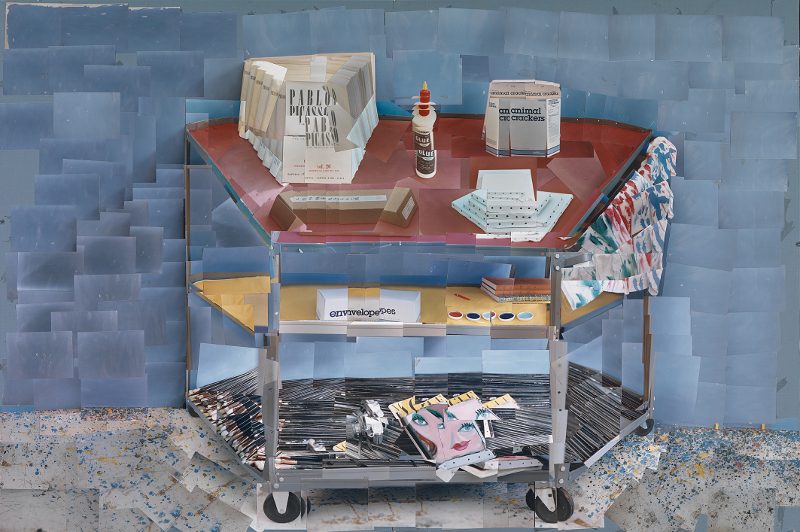 Picasso.mania : HOCKNEY Paint Trolley, L.A. 1985, photocollage, David Hockney Photo Credit , Maison Europeenne de la Photographie, Paris