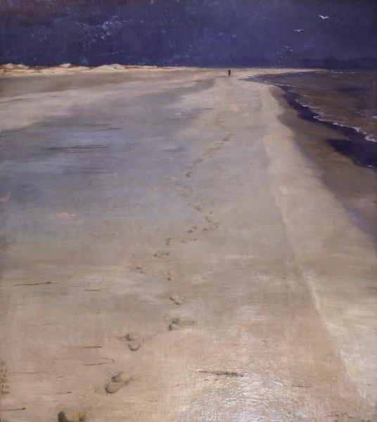 L'Heure bleue de Peder Severin Krøyer : Peder Severin Krøyer Depuis la plage sud, Skagen 1883 - Huile sur toile - 137 × 122 cm Kunsthalle zu Kiel © Kunsthalle zu Kiel, Photo: Foto-Renard, Kiel