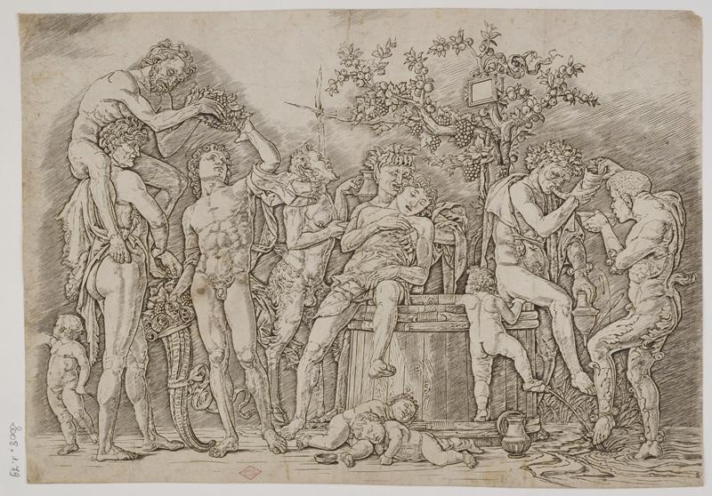 De Dürer à Mantegna, Gravures Renaissance de la collection Leber. : Andrea Mantegna, Bacchanale à la cuve, Vers 1470-1480, © Orléans, musée des Beaux-Arts, clichés François Lauginie