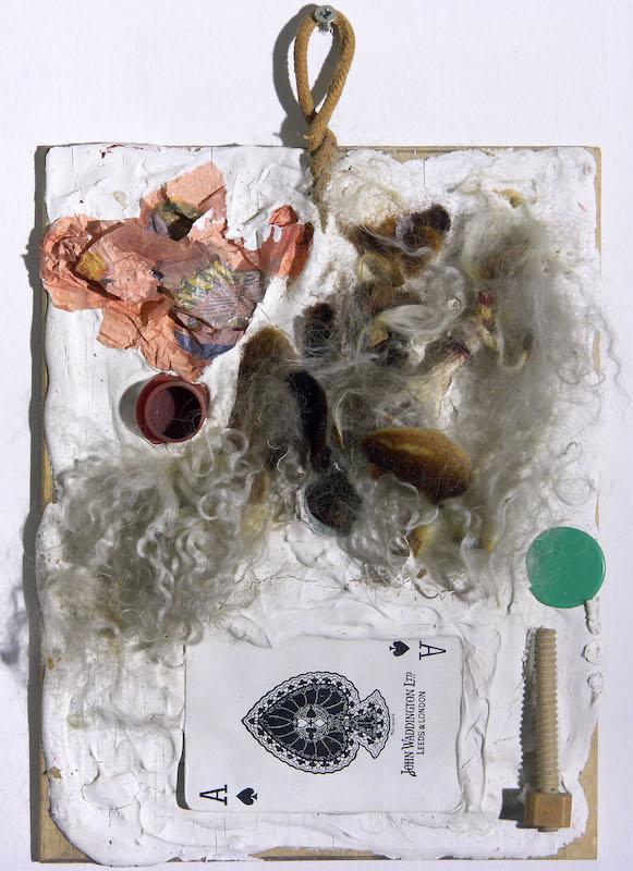 Par hasard. : Niki de Saint-Phalle Tir première séance - deuxième séance, shooting session (tableau relief) vers 1960 - 1961 peinture, tableau relief, plâtre et objets divers sur contreplaqué 130 x 73 x 28 cm Nice, Musée d'Art Moderne et d'Art Contemporain - Mamac © Ni