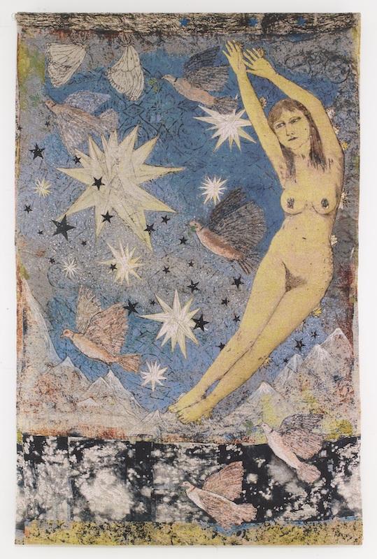 Vidya Gastaldon. Les rescapés :  She Shi, 2011  Acrylique et huile sur toile  201 x 140 cm  Collection particulière  © Courtesy Vidya Gastaldon et Art Bärtschi & Cie
