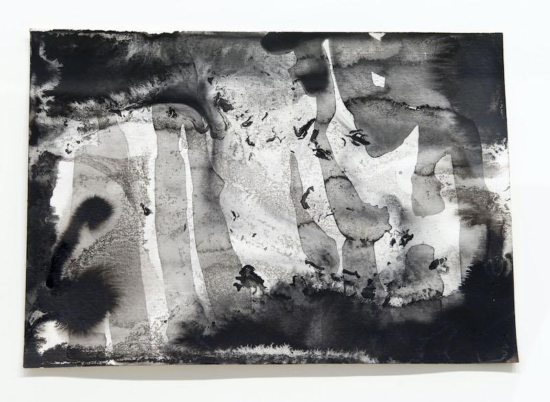 Par hasard. : Gerhard Richter Abstract VII 1991 encre noire et aquarelle sur papier 24 x 32 cm Nîmes, Carré d'Art – Musée d'Art contemporain