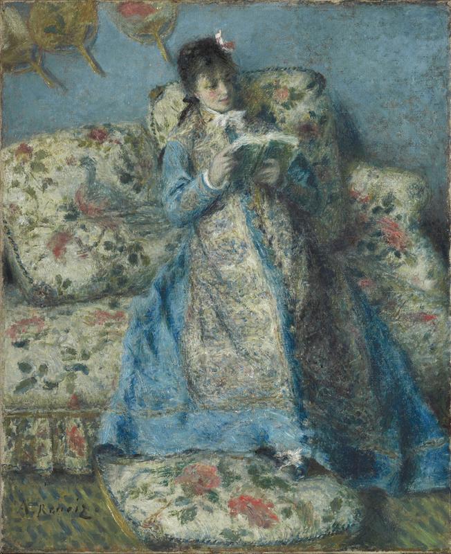 La Passion Renoir. : Madame Claude Monet Reading, 1874, © Sterling and Francine Clark Art Institute, © 2010 Museo Nacional del Prado