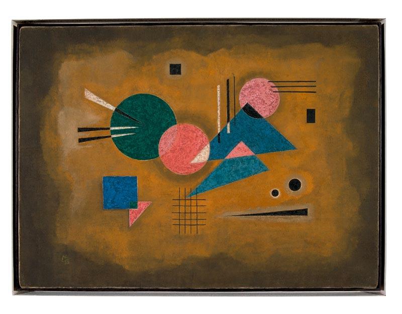 L'abstraction en Europe : Vassily KANDINSKY, Rose fondant, 1928, Huile sur toile ; 40,5 x 55,5 cm, © Adagp Paris 2011