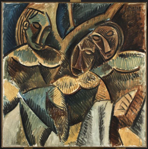 Picasso - Donner à voir : Pablo Picasso, Trois Figures sous un arbre, Paris, hiver 1907-1908, huile sur toile, 99 x 99 cm, Musée national Picasso-Paris, don de M. McCarthy-Cooper, 1986, inv. MP1986-2, photo © RMN-Grand Palais (Musée national Picasso-Paris) / Mathieu Rabeau, servic