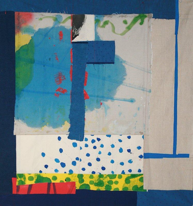 Jean Gaudaire-Thor : Jean Gaudaire-Thor, Vallée du Rift I, 2011, Assemblage de toiles peintes