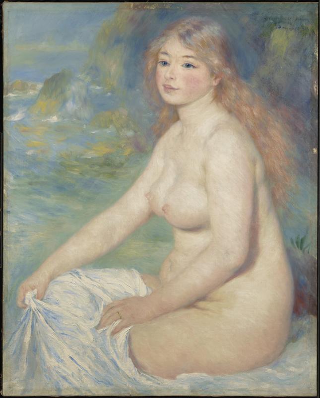La Passion Renoir. : Blonde Bather, 1881 © Sterling and Francine Clark Art Institute, © 2010 Museo Nacional del Prado