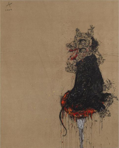 L'Esprit Singulier – Collection de l'Abbaye d'Auberive : ADAM Sahban - Sans titre, 2004, TMST, 182 x 147 cm © Atelier Démoulin.