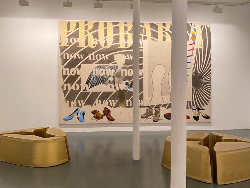 Agnès Thurnauer - Rrose c'est la life :  Vue de l'exposition d'Agnès Thurnauer Rrose c'est la life au Centre d'art contemporain Bouvet-Ladubay, Saumur