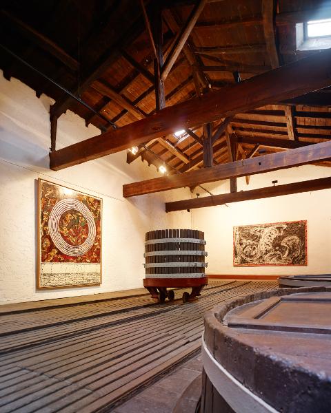 Pierre Alechinsky  – Au fil du pinceau : Pierre Alechinsky. Portée circulaire. 1990 – 1997. Au fil du pinceau. 2011 – 2012  © Crédit photo : Pierre Grenet