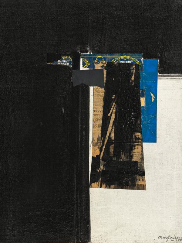 André Marfaing : Sans titre 1978 Collage sur toile, 61 x 50 cm (réf. atelier G.5) © Photo J-L. Losi