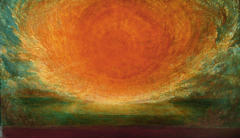 La Peinture anglaise, de Turner à Whistler. : George Frederic Watts After the Deluge, 1885-1886 huile sur toile, 106 x 179,5 cm Watts Gallery Trust © Watts Gallery Trust