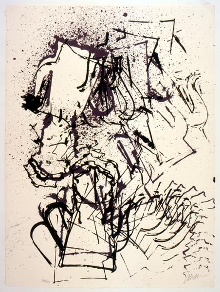 Jacques Villeglé : Arman,  Les Théières, 1973. Eau-forte. 63,2 x 90,5 cm