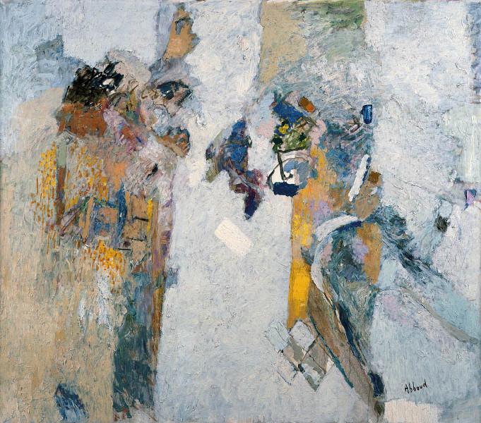 Shafic Abboud et la Modernité : Shafic Abboud, L'aube, 2003. Huile sur toile, 105 x 120 cm. Copyright Succession Shafic Abboud. Courtesy Galerie Claude Lemand, Paris