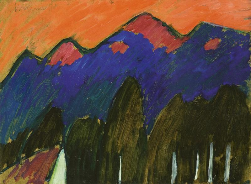 Couples modernes : Alexej von Jawlensky. Landschaft bei Murnau 1909-1910. Schloßmuseum Murnau. Loaned by The Kasser Mochary Foundation, Montclair, New Jersey