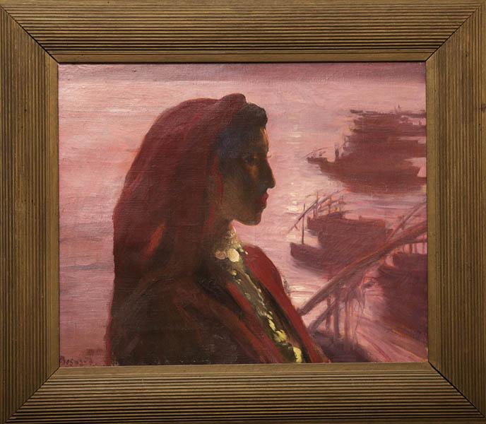 Albert Besnard. Modernités Belle Époque : Albert Besnard, Algérienne, 1894 Huile sur toile, 45 x 60 cm Paris, collection François Piet