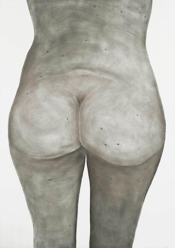 Frédérique Lucien, Anonymes : Frédérique Lucien, Anonyme, 2010, fusain sur papier, 106,5 x 75 cm, courtesy galerie Jean Fournier, © Alberto Ricci