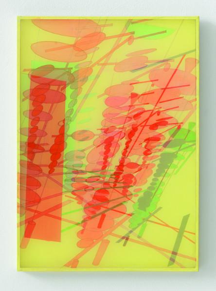 Bernard Moninot - Dessin(s) : Bernard Moninot. Antichambre 5. 2013, acrylique soie et papier marouflé sur bois. © DR.