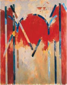 Louis Cane, artiste peintre : Arches, 1978