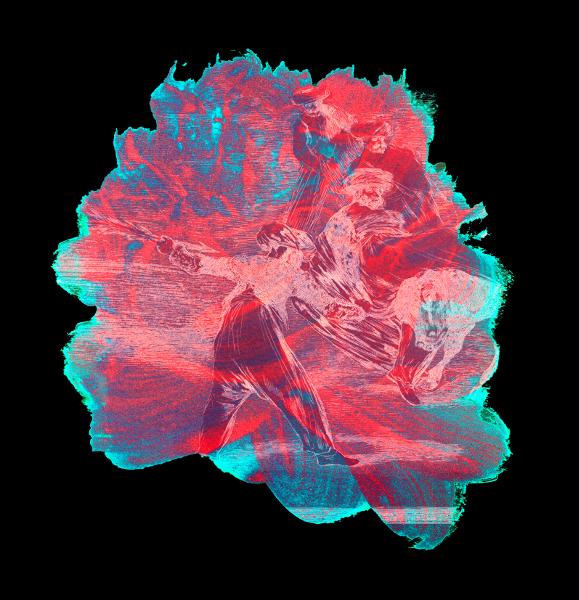 Le Peintre et l'arène – Art et tauromachie, de Goya à Barceló : Najia Mehadji. Suite goyesque: tauromachie Los moros. 2007, Epreuve numérique pigmentaire tirée à 15 exemplaires, 117  x 110 cm.  Collection de l'artiste © Najia Mehadji