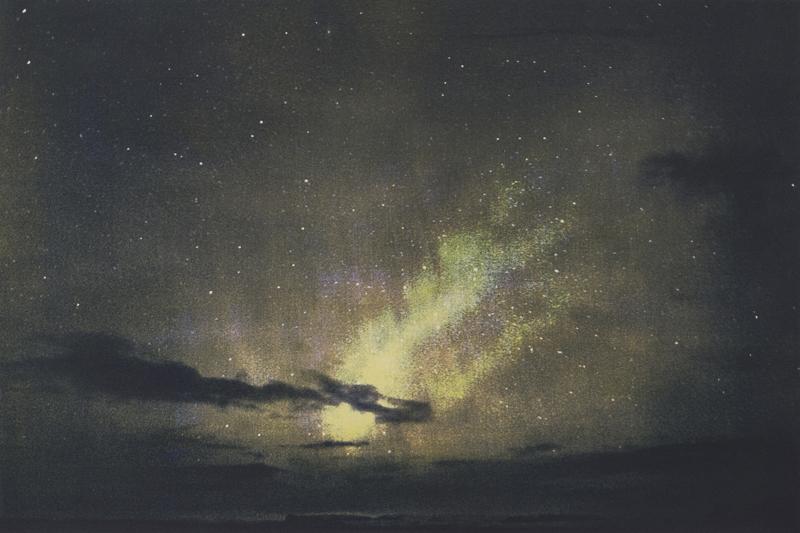 Sublimation. Carte blanche à Najia Mehadji : Mustapha Azeroual. Aurora#1-2 (série : Radiance#4). 2016, épreuve à la gomme bichromatée trichrome, multicouche, 38 x 56 cm.© DR