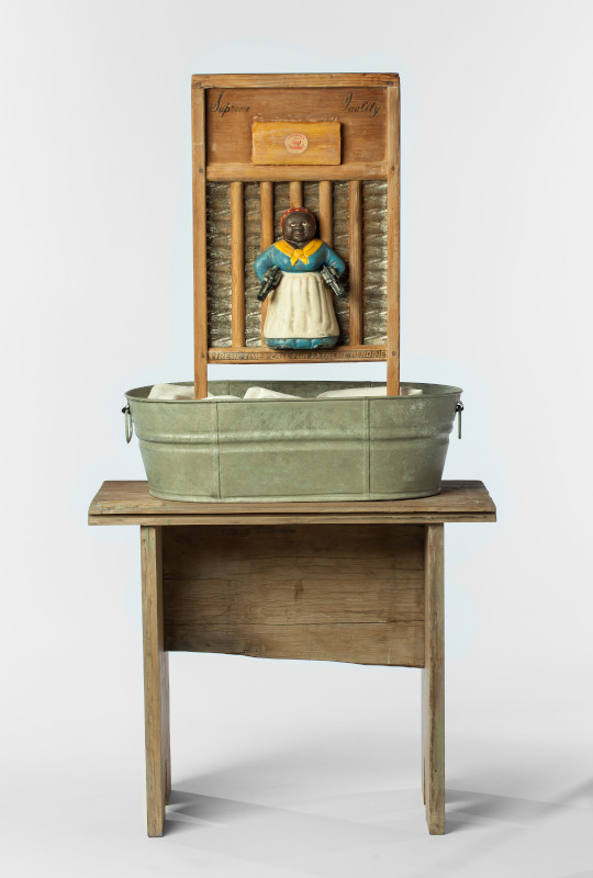 Betye Saar. Call and Response : Betye Saar, Supreme Quality, 1998, mixed media on vintage washboard and tub, The Rose Art Museum, Brandeis University, Mortimer and Sara Hays Acquisition Fund, © Betye Saar, photo courtesy Scottsdale Museum of Contemporary Art, by Tim Lanterman