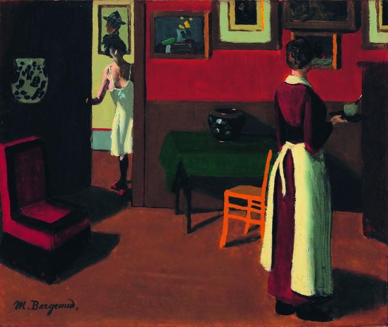 Marius Borgeaud : Marius Borgeaud. Intérieur parisien. Vers 1923, huile sur toile, 46 x 55 cm. Musée d'art de Pully. © Musée d'art de Pully / Photo : Creatim Renens