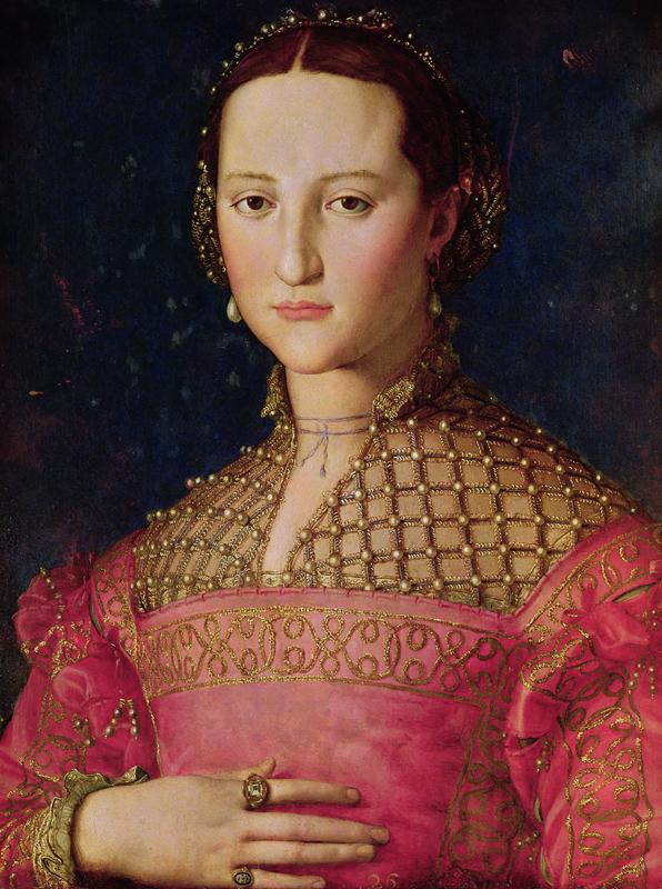 Trésor des Médicis. : Agnolo Bronzino. Portrait d'Éléonore de Tolède. 1543, © 2010. Photo Scala, Florence – courtesy of the Ministero Beni e Att. Culturali.