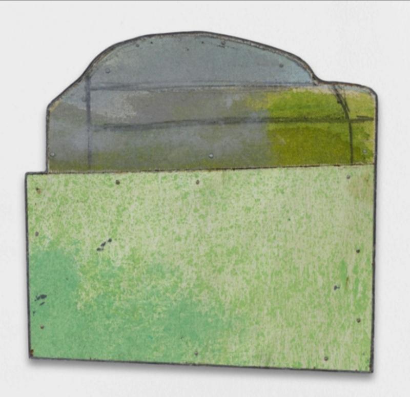 L'Entretien de la Peinture : Blackhaus XXIV, 2008 Peinture sur contreplaqué, découpage 17 x 17.5 cm