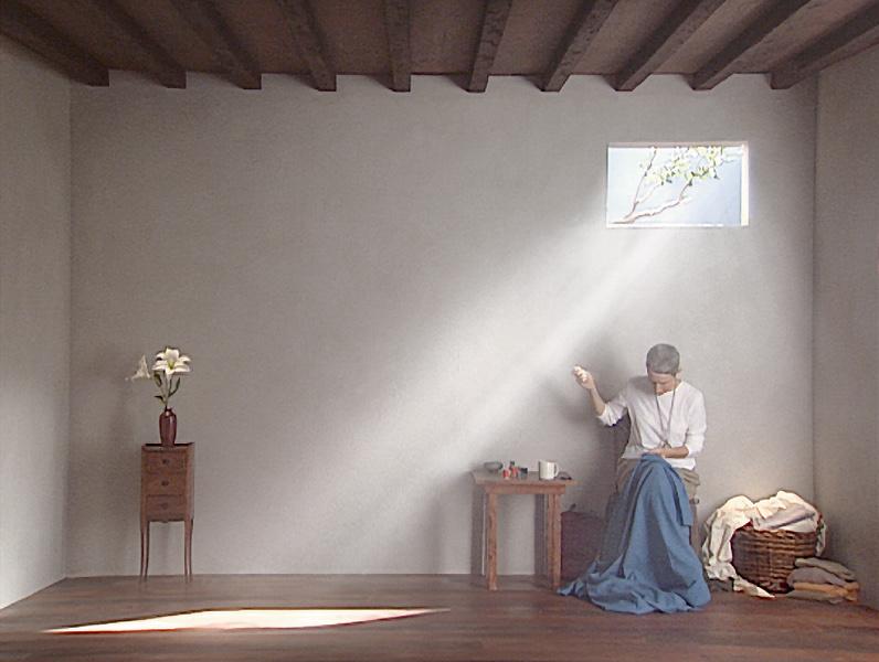 Bill Viola : Bill Viola, Catherine's Room (détail), 2001, polyptique vidéo couleurs sur cinq écrans plats LCD, 18 minutes, Bill Viola Studio, Long Beach, Etats-Unis; Photo Kira Perov