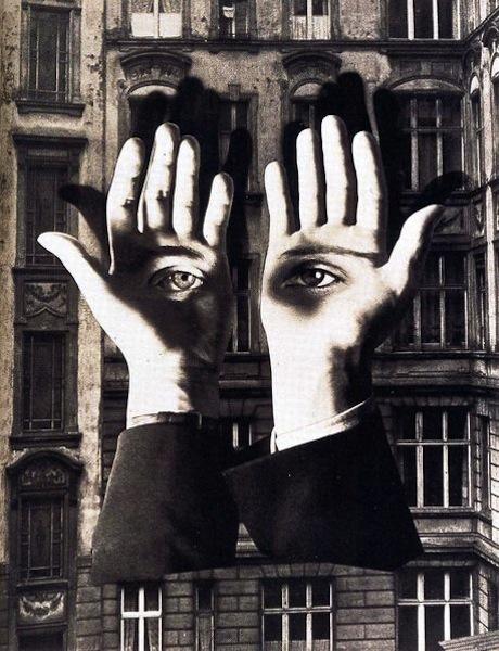 La Ville magique – Contes et mythes urbains de l'entre-deux-guerres : Herbert Bayer, Solitude du citadin, 1932. Ludwig Museum, Cologne (Allemagne). Photo : DR. © Adagp Paris, 2011.