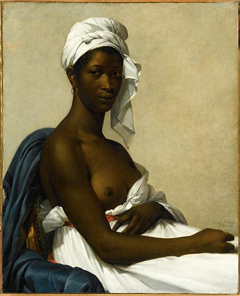 Le Modèle noir deGéricault àMatisse : Marie Guillemine Benoist. Portrait de Madeleine, 1800 Huile sur toile, 81 x 65 cm © Musée du Louvre / Gérard Blot